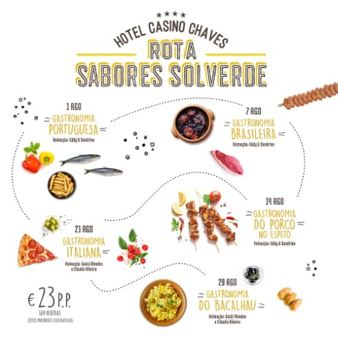 HOTEL CASINO CHAVES PROMOVE ROTA DE SABORES SOLVERDE